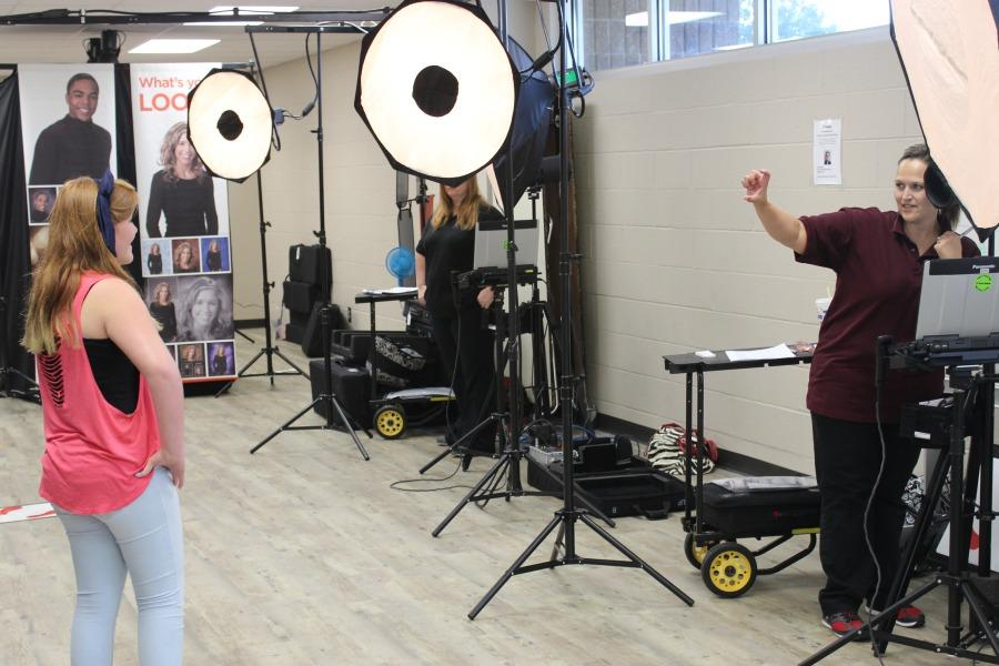 Sophomore Skylar DeSirey participates in the largest school picture day in Oklahoma history on Sept. 10 with 3,600 other students.
