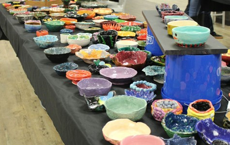 Hundreds of bowls were created for this annual event.