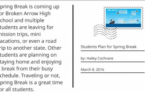 Students plan for spring break