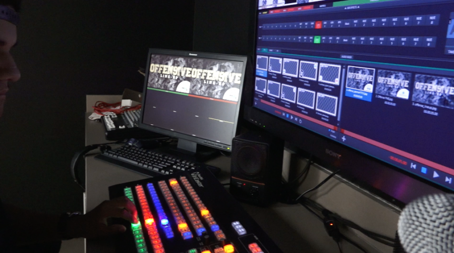 Students participate in ArrowVision football productions