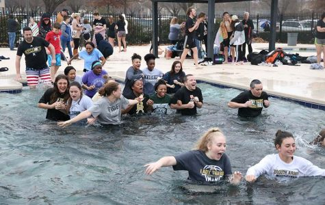Students take icy plunge for a good cause – Freezin' for a Reason