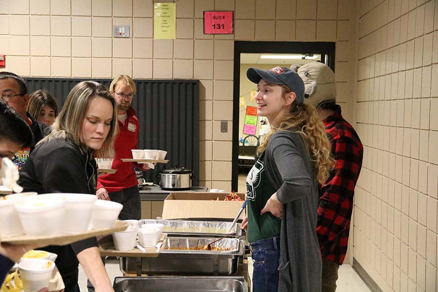 Students and teachers help out at the 8th Annual Chili Cook-off