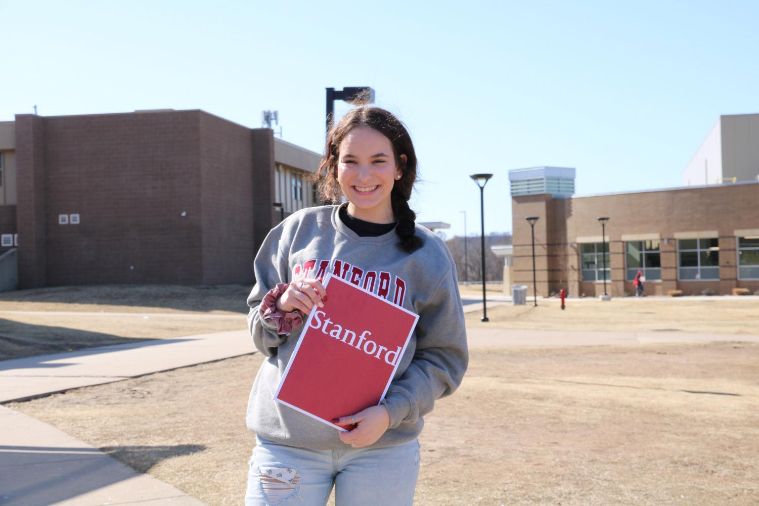 Senior Bailey Vought accepted a full-ride to Stanford for next year.
