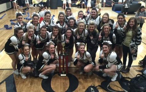 JV Cheer takes home the trophy