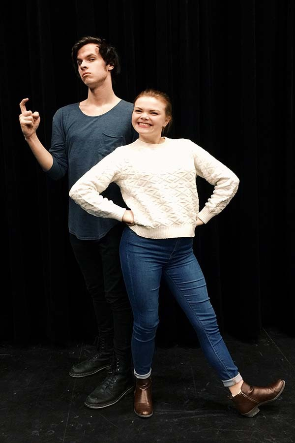 Seniors Austin Wyatt and Maddie Riggin will be playing Captain Hook and Peter Pan, respectively.