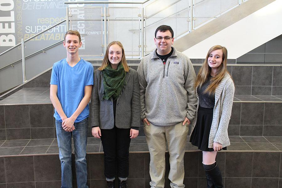 Kyle Barker, Rebecca Atherton, Chris Oven, and Michaela Stabler have all been named National Merit Finalists.