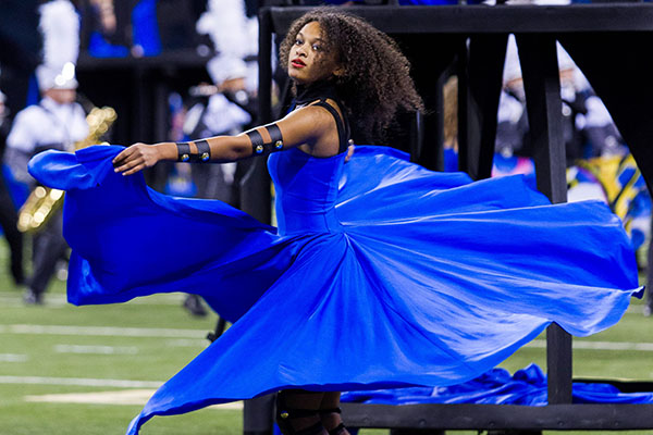 Colorguard auditions are currently being held.