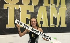 Sophomore swimmer making a splash