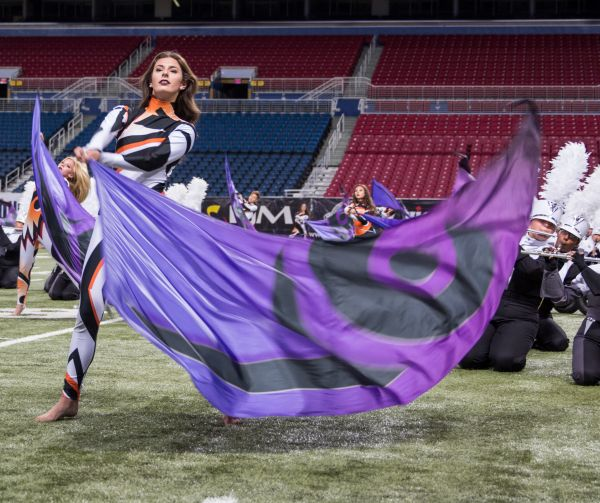 Senior Ocea Palmer performs with Pride in St. Louis.