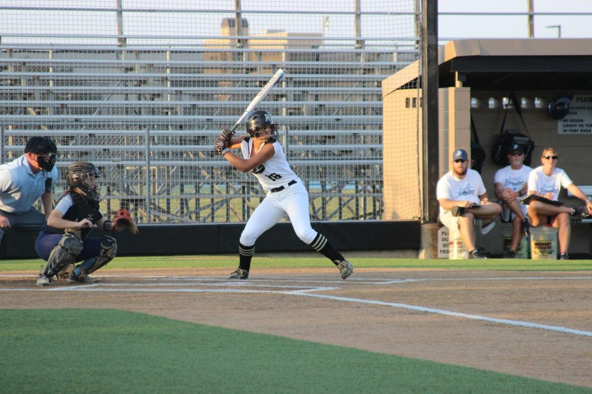 Junior Grace Jarvis steps up to the plate.