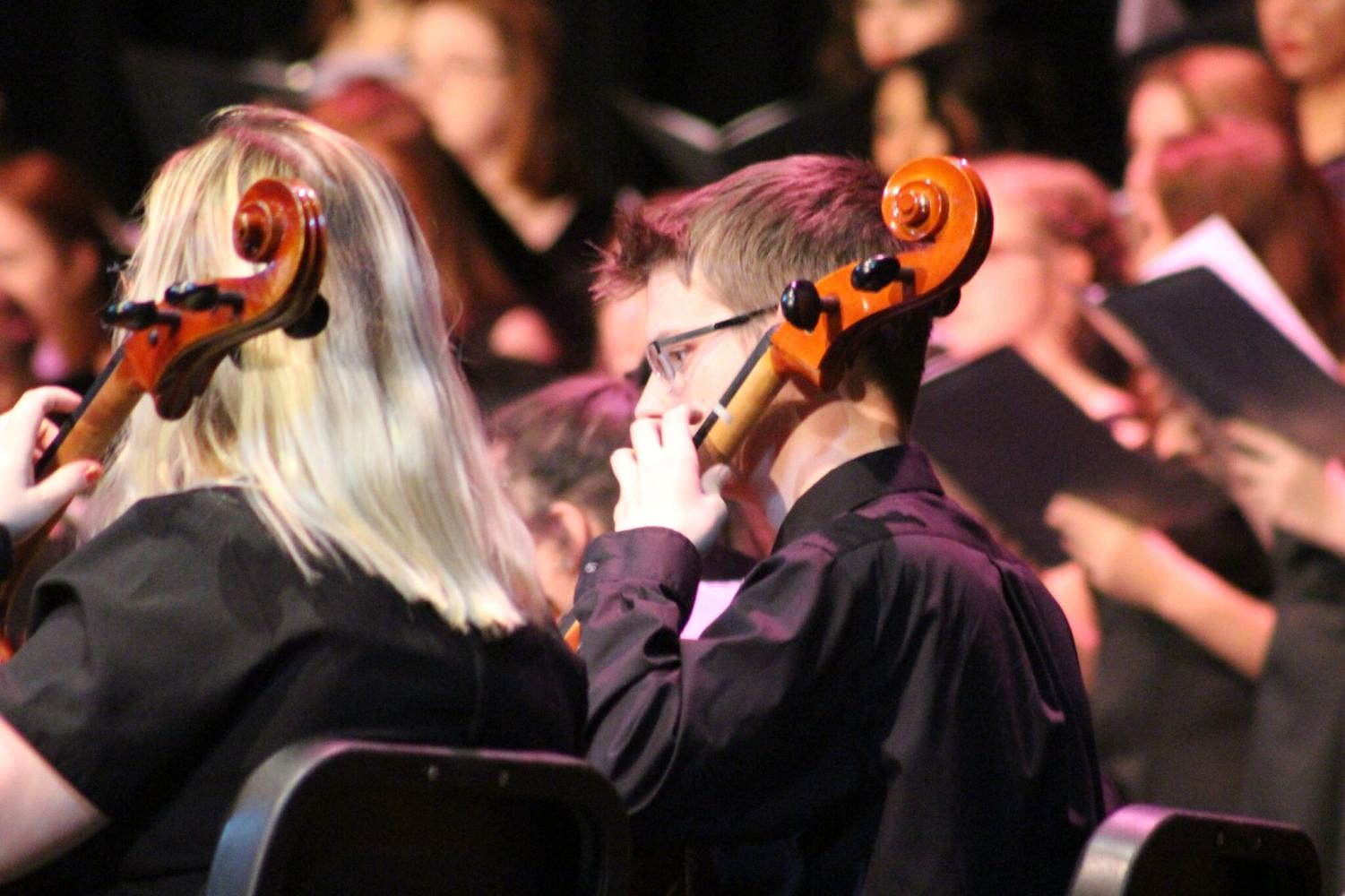 On December 4 the orchestra and choir had their annual winter concert.